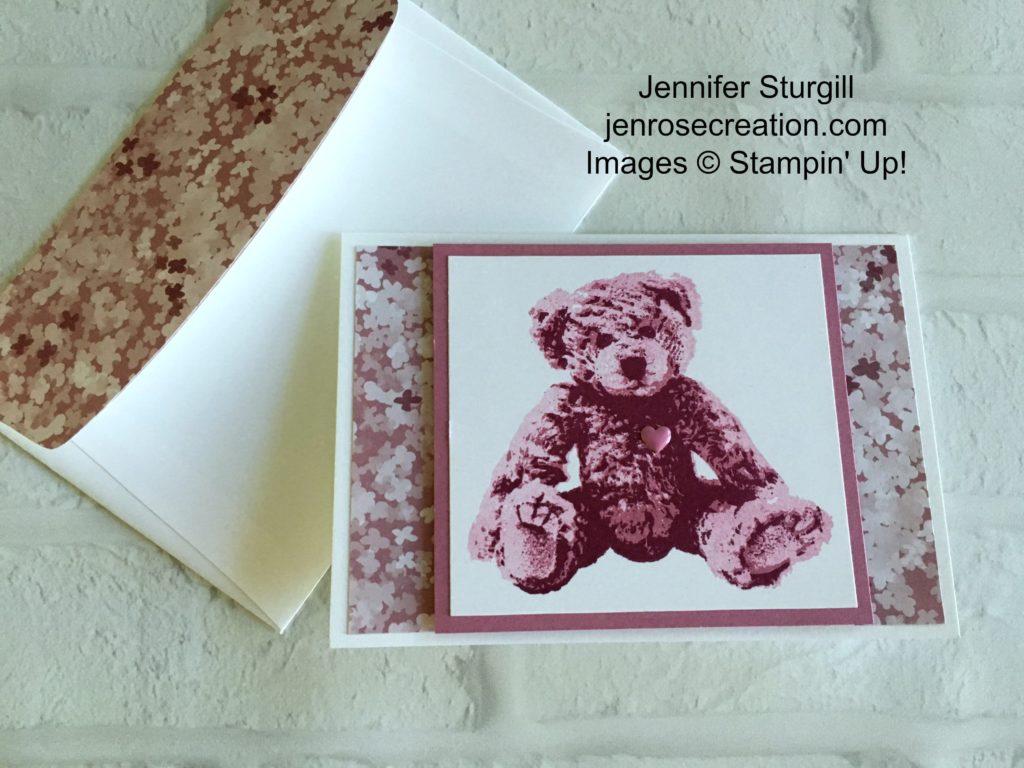 Baby Bear, Sweet Sugarplum, Jen Rose Creation, Stampin' Up!, Jennifer Sturgill
