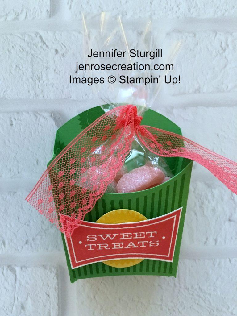 Sweet Treats Fry Box, Jen Rose Creation, Stampin' Up!, Jennifer Sturgill, All About Sugar