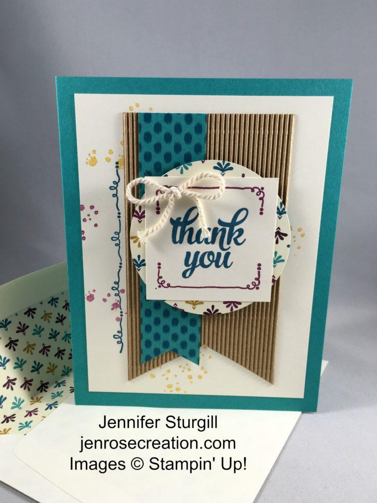Thank You Bohemian, Jen Rose Creation, Stampin' Up!, Jennifer Sturgill, Tin of Cards