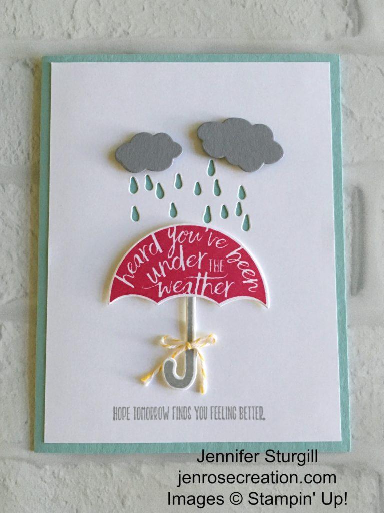 Under the Weather, Jen Rose Creation, Stampin' Up!, Jennifer Sturgill, My Hero, Umbrella Weather Framelits