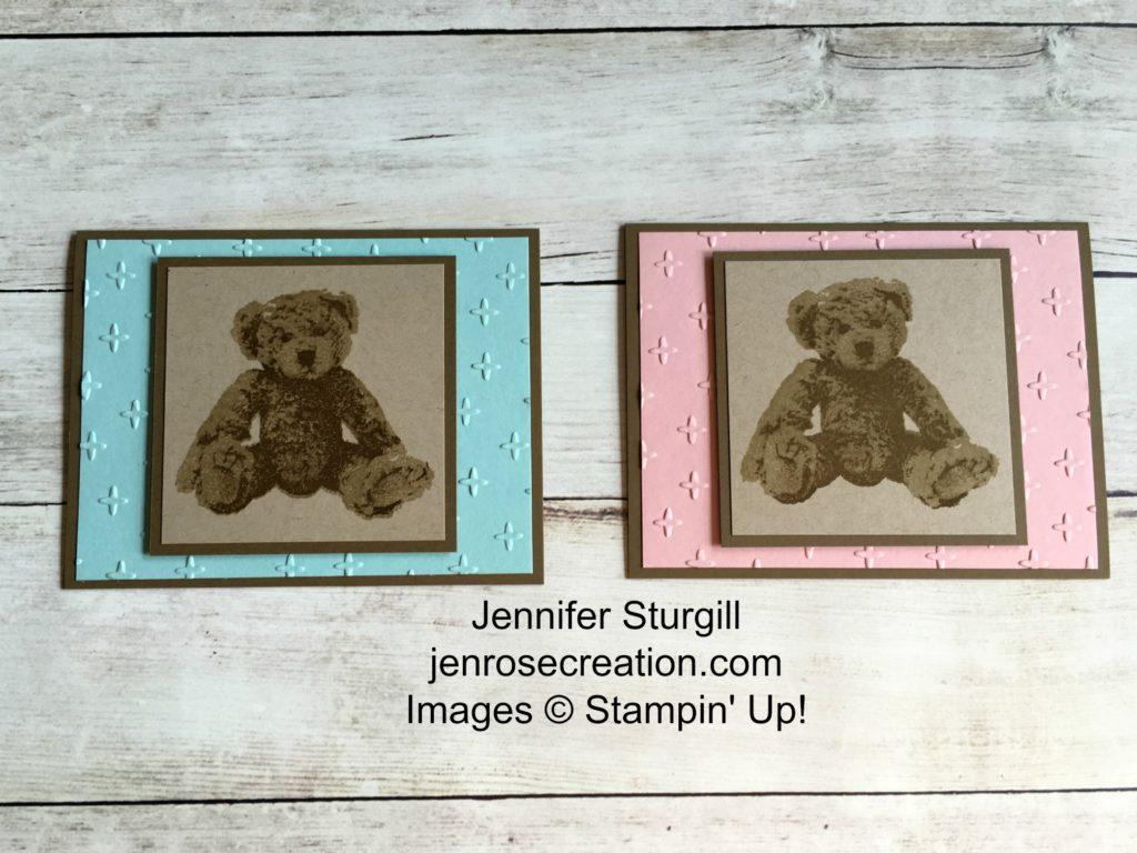 Baby Bear, Jen Rose Creation, Stampin' Up!, Jennifer Sturgill, Baby, Boy, Girl, StampinUp