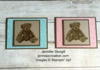 Baby Bear, Jen Rose Creation, Stampin' Up!, Jennifer Sturgill, Baby, Boy, Girl, StampinUp