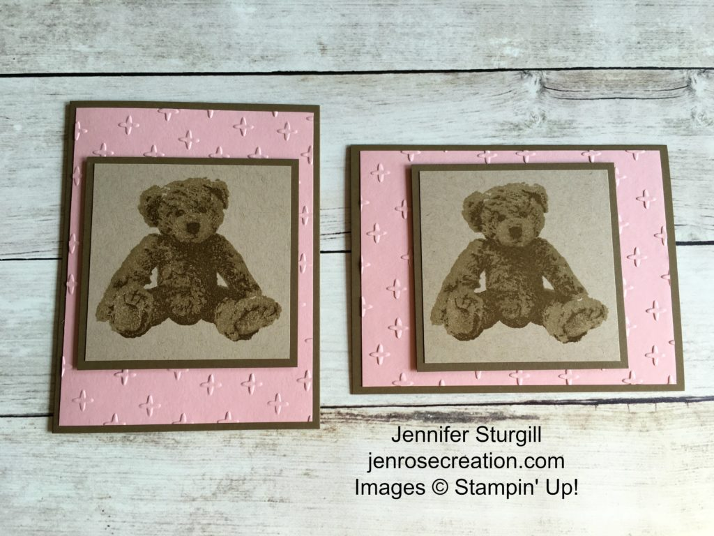 Baby Bear, Jen Rose Creation, Stampin' Up!, Jennifer Sturgill, Baby, Boy, Girl, Vertical & Horizontal Layout, StampinUp