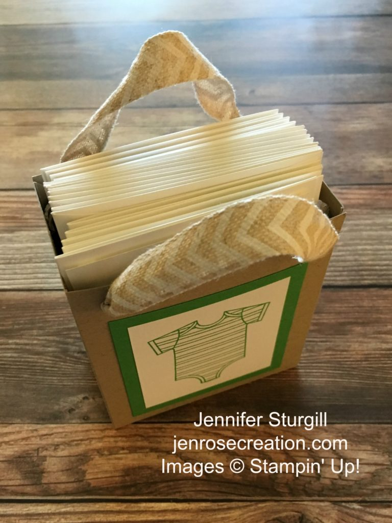 Baby Thank You Gift Bag, Jen Rose Creation, Stampin' Up!, Jennifer Sturgill, Gift Bag Punch Board, Made With Love, Baby Boy, Baby Shower, Thank You, StampinUp