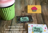 Birthday Gift Card Holder, Jen Rose Creation, Stampin' Up!, Jennifer Sturgill, Sprinkles of Life, Tin of Cards, It's My Party Designer Series Paper, DSP, Happy Birthday, Birthday, Fancy Fold, StampinUp