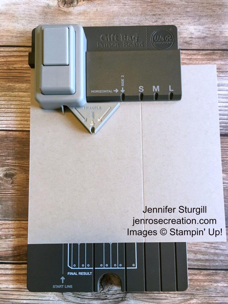 Gift Bag Step 1, Jen Rose Creation, Stampin' Up!, Jennifer Sturgill, StampinUp
