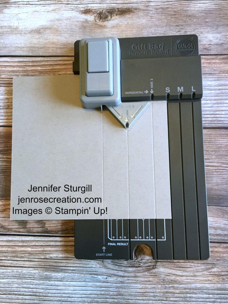 Gift Bag Step 2, Jen Rose Creation, Stampin' Up!, Jennifer Sturgill, StampinUp