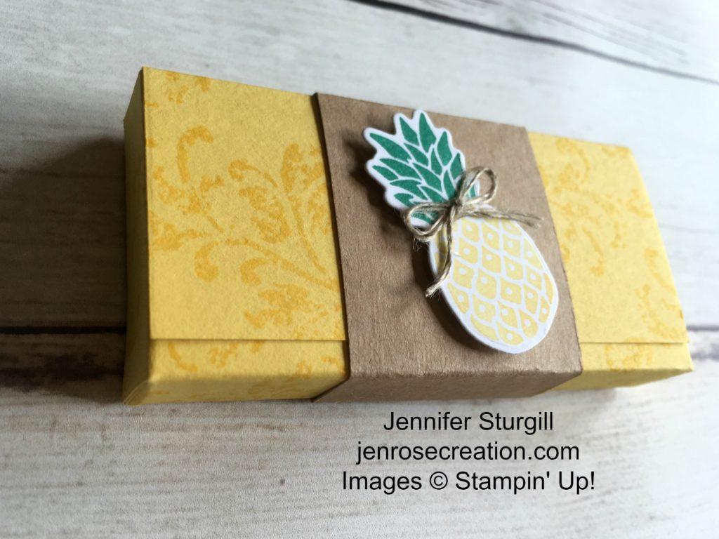 Pineapple Gum Holder Close Up, Jen Rose Creation, Stampin' Up!, Jennifer Sturgill, Pop of Paradise, Timeless Textures, Gum Holder, 3D, 3-D, StampinUp