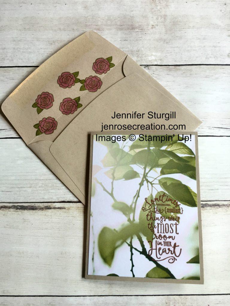 Serene Scenery Leaf, Jen Rose Creation, Stampin' Up!, Jennifer Sturgill, Layering Love, Better Together, Designer Series Paper, DSP, Copper Embossing Powder, StampinUp