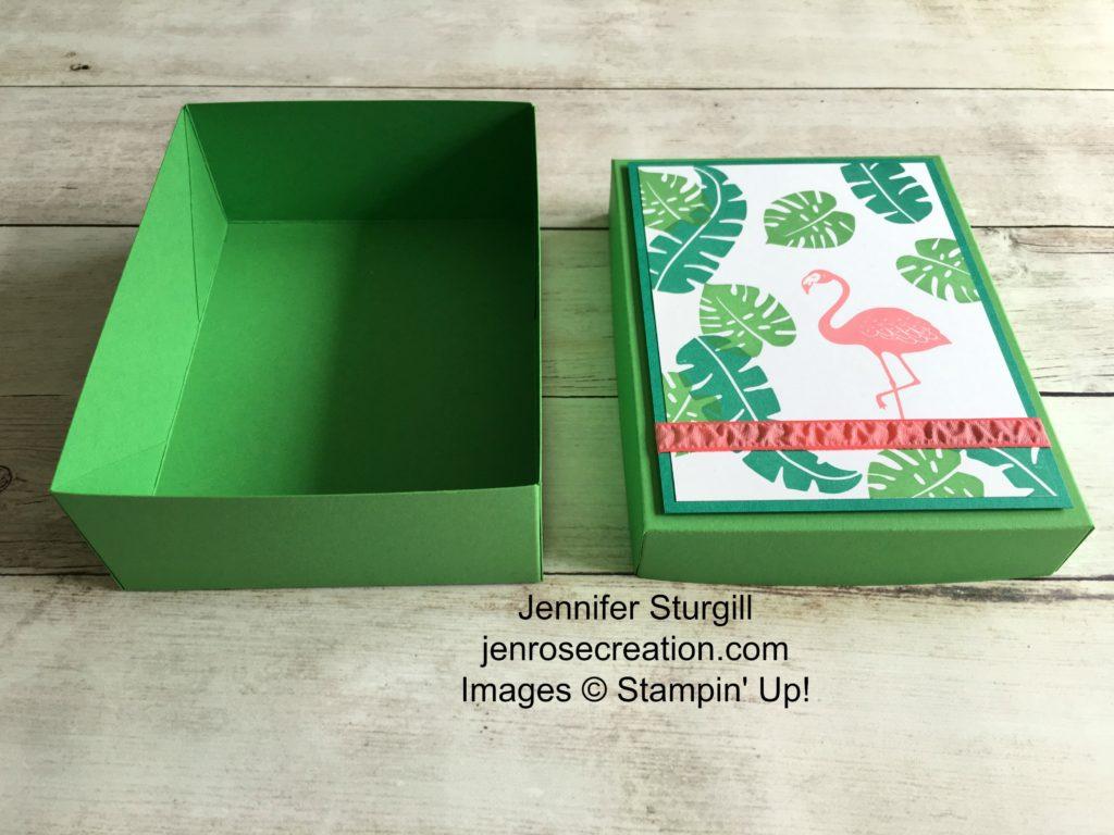 Tropical Card Box Open, Jen Rose Creation, Stampin' Up!, Jennifer Sturgill, Pop of Paradise, 3D, 3-D, StampinUp