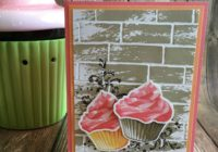 Vanilla and Chocolate Cupcake, Jen Rose Creation, Stampin' Up!, Jennifer Sturgill, Sweet Cupcake, Watercolor Wash, Timeless Textures, Tin of Cards, Cupcake Cutouts, Bundle, Brick Wall Embossing Folder, Birthday, Happy Birthday, StampinUp