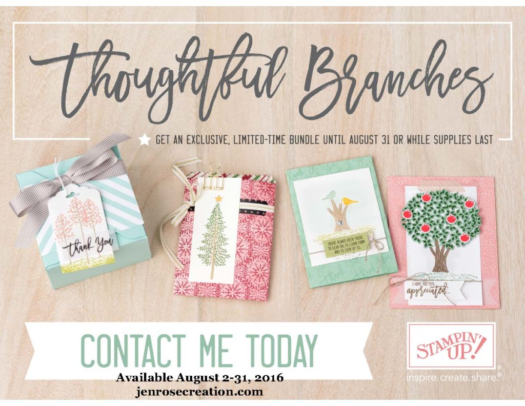 Thoughtful Branches, Jen Rose Creation, Stampin' Up!, Jennifer Sturgill, StampinUp