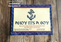 Ahoy! It's A Boy!, Baby Boy Shower Invites, Jen Rose Creation, Stampin' Up!, Jennifer Sturgill, Guy Greetings, Watercolor, Anchor, Nautical, StampinUp