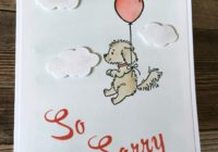 So Sorry, Bella & Friends, Jen Rose Creation, Stampin' Up!, Jennifer Sturgill, Sympathy, Loss of Pet, Brushwork Alphabet, StampinUp