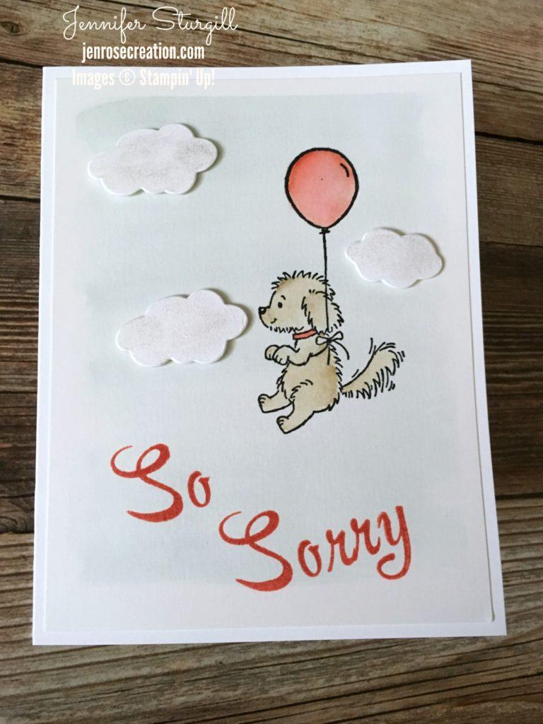 So Sorry, Bella & Friends, Jen Rose Creation, Stampin' Up!, Jennifer Sturgill, Sympathy, Loss of Pet, Brushwork Alphabet, StampinUp