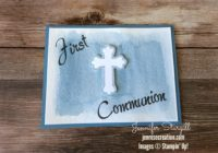 Watercolored First Communion