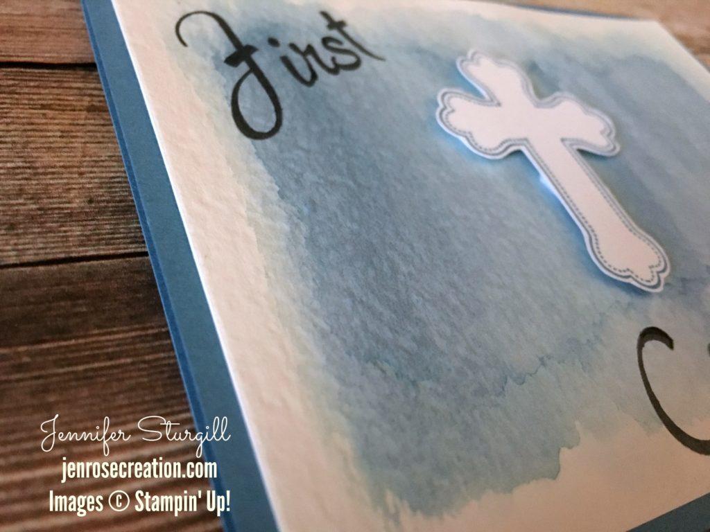 Watercolored First Communion CloseUp
