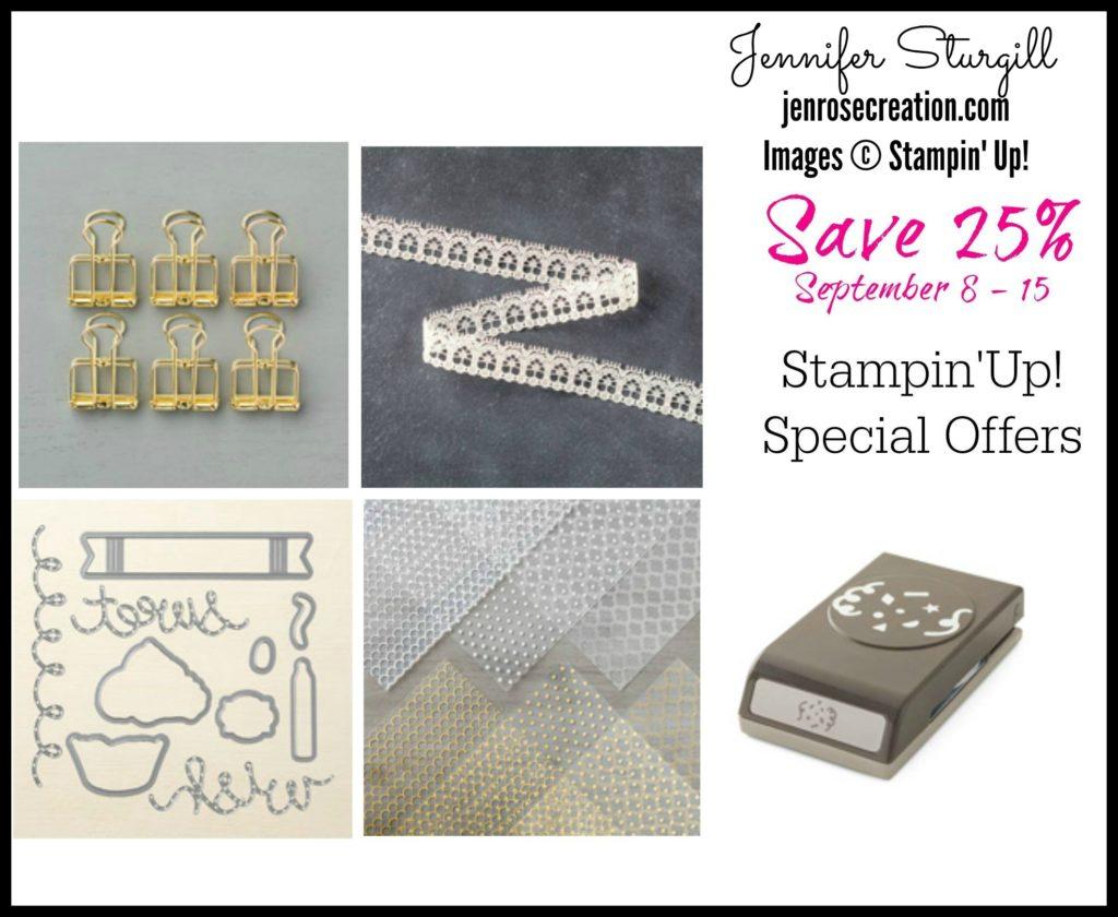 Special Offers Week Two, Jen Rose Creation, Stampin' Up!, Jennifer Sturgill, StampinUp